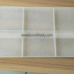 New design white overall Bee hives plastic frame with comb foundation
