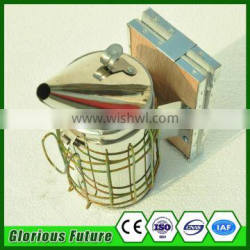Beekeeping Stainless Steel Bee Hive Smoker Driving Mini Bees Smoker With Round Lid