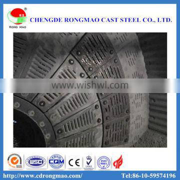 High manganese steel ball mill liner in mine, metallurgical, cement, coal, power industry