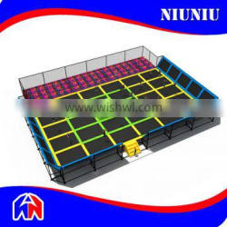 Large trampoline park with foam pit for sale