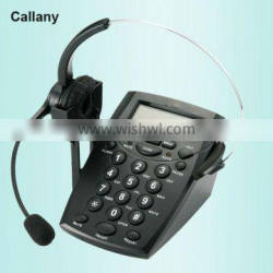 call center telephone dialer with headset