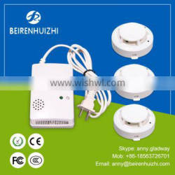 Wireless smoke detector stand alone smoke detector with 9v battery