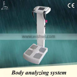 LCD touch screen stand body composition analyzer for muscle and fat