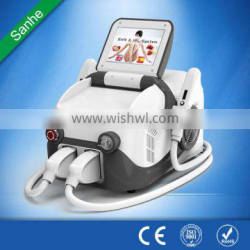 10MHz Sanhe Beauty Ipl Shr Hair Removal And Skin Rejuvenation With CE/ Mini Ipl Hair Removal Machine Fine Lines Removal