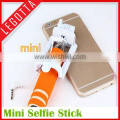 New arrival mini small size creative promotion cable selfie stick, wired selfie stick