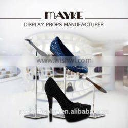 Popular High glossy metal Shoes Display Rack for ladies