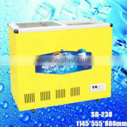 SD-238 open top refrigerator,open showcase refrigerator icecream freezer deep freezer compressor