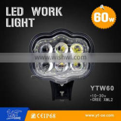 """New product Amber white color drl 6"""" 60w led driving light"""