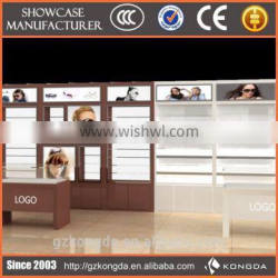 Free standing eyeglass custom glass display cabinets