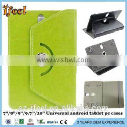 "Folio 360 Degree Leather Case Cover For Universal Android Tablet PC 7"" 8"" 9"" 10"" 10.1"""
