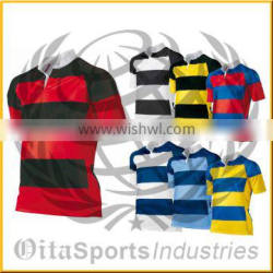 sublimated rugby jersey in 230gsm polyester moisture wicking material