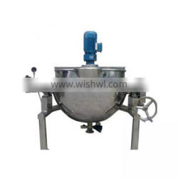 electric steam jacket kettle,cooking kettle with mixer