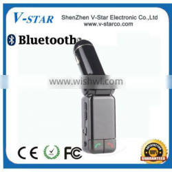 FM transmitter for android, 1.5 inch blue screen display song name, supports two remote control