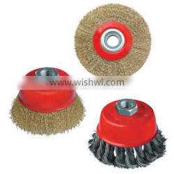 Twisted knotted bowl steel wire brush/ round steel wire brush