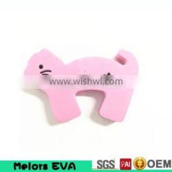 Melors Pink Lovely Cats Pattern Baby Safety Care Children Safety Door Stoppers Hold Lock Safety Guard Finger Protect