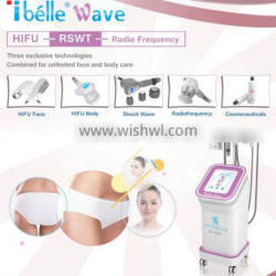 RSWT acoustic wave fat reduction hifu loss weight facial machine multipolar radio frequency