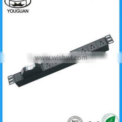 19 inch 1 U 7 ways America Electric Power Switch PDU Socket