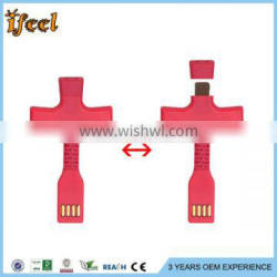 To USB Keychain Data Sync Cable Charger Connector For Iphone For Ipad For Ipod,For Apple For Iphone 5 6 Keychain USB Cable Whole