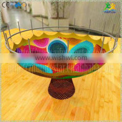 Customized colorful nylon rope hand crocheted play for kids