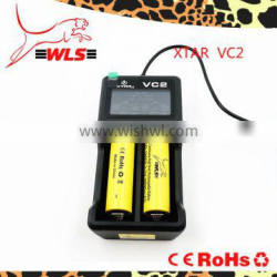 Best selling high quality Xtar VC2 usb charger with LCD display VC2 for 18650 battery