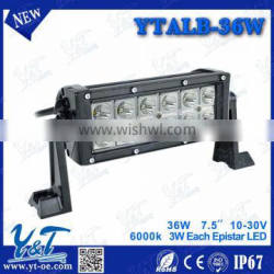 7.5 Inch 36W LED Work Light Bar + Wiring Kit for Off Road Work Driving Offroad Boat Car Truck 4x4 SUV ATV Spot Flood Combo