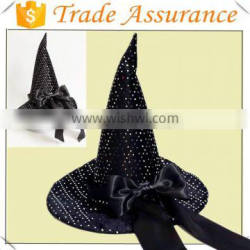 2015 New Arrive black color halloween witch hat design