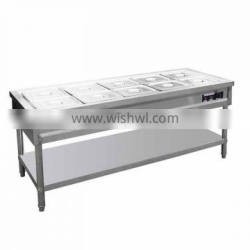 commercial fast foodbainmariestove with cabinet/bainmariefood warmer/fast food warmerbainmarie