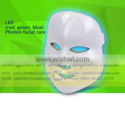 Factory offer price led face mask with red blue green color led light therapy facial