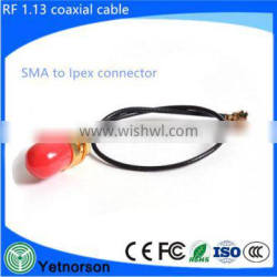 U.FL / IPEX To SMA Female RF Cables 10cm Length Gold Plated Connectors for Wifi Wireless Antenna plus HQRP UV Meter