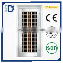 2016 new type Alibaba hot sale security steel door prefab houses prehung stainless steel door