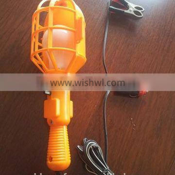 12v 50w Yellow Plastic Lamp Guard Handheld Car Working Lamp with Clip