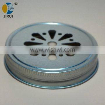 86mm silver daisy cut style metal lug cap for manson jar