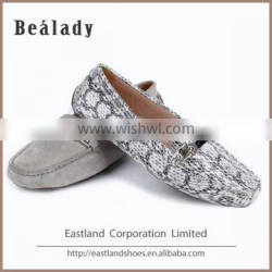 Hot sale classic laser cut casual women moccasin loafers shoes with galze trim