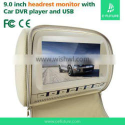 "9"" TFT LCD headrest DVD player/monitor"