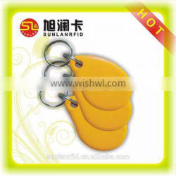 promoting factory price 125KHz printing yellow hotel key fob