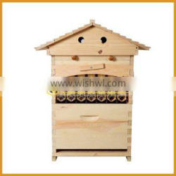 2017 Popular Automatic Honey Flow Beehive with 7 frames and tubes from China manufacturer