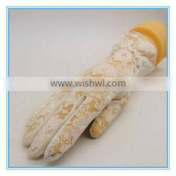 Five Fingers Super Thin Tights Gloves With Flowers