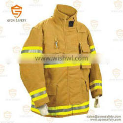 PBI yellow Water proof safety clothing with 3m reflective stripe EN 469 standard-Ayonsafety