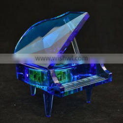 crystal music box with high-end crystal material diy music box