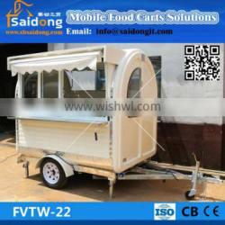 Fashionable modern fast bbq food cart renting/mobile fast food van design /electric food van