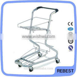 Japanese Style Supermarket 30kg two-deck shopping cart