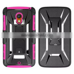 Combo Armor Case Cover With Belt Clip Holster Shell For LG Tribute 2 LS665 Leon C40 H340 H345 H320