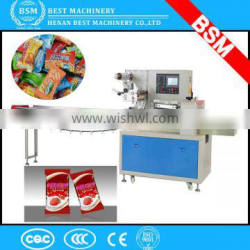 low price automatic candy pillow wrapping packing machine for small candy factory