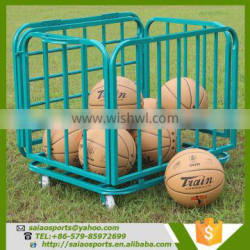 Gold supplier china Foldable basketball trolley , movable storage carts , folding trolley