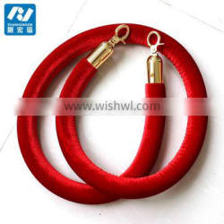 Hotel series stainless steel post queue stand rope red velvet