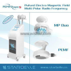 Magnetic pulse+multi polar rf skin firming fat removal beauty salon machine portable