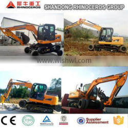 High quality&China Cheap 8T 0.3m3 X8 Wheel excavator for sale with crawler