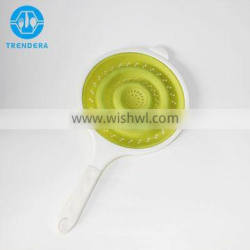 High quality collapsible silicone colander