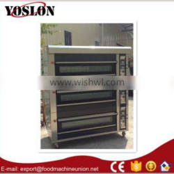 Yoslon stainless steel electric 3deck 6trays deck oven from Guangzhou