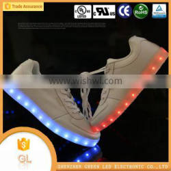 7 color changing fashion light sexy party led light shoes for men and women